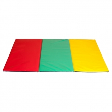 Three folding multicoloured tatami