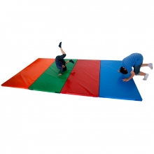 Joined-velcro school mat