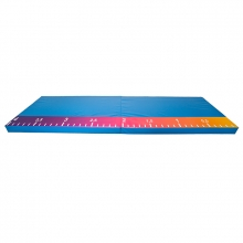 Folding long / high jump mat