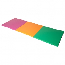 Three folding mat