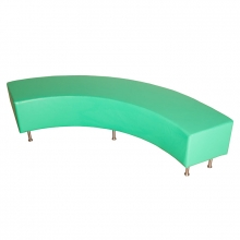 Large curved foam bench